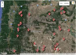 map of oregon springs springs map oregon explorer
