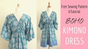 boho kimono dress sewing tutorial youtube