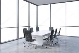 modern office conference table panoramic conference room in modern office copy space view from the