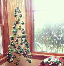 a tree made of suspended ornaments as seen on reddit