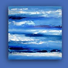 blue and white painting original blue and white abstract acrylics fine art painting titled