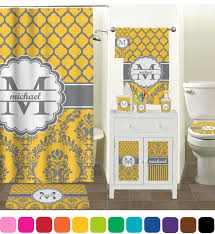 damask u0026 moroccan shower curtain personalized potty training