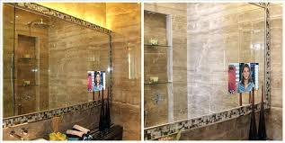 tv in a mirror bathroom tv in bathroom mirror bathroom mirror bathroom tv mirror review