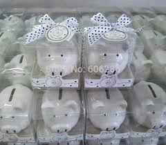 piggy bank favors 30pcs lot christening baptism gifts ceramic mini piggy bank coin