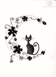 moon and cat design cat