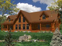 floor single story log home plans one large homes house cool javiwj