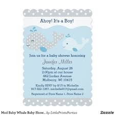 Mod Baby Shower by Cute Baby Blue U0026 Grey Whale Baby Shower Card Babies Shower