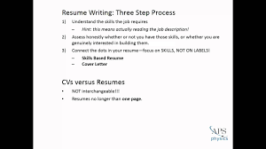 Do Resumes Need To Be One Page How To Write An Effective Resume Youtube