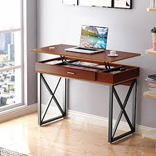 Computer Desk Workstation Tribesigns Lift Top Computer Desk Height Adjustable Standing Desk