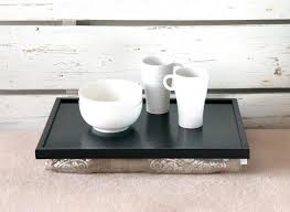 laptop lap desk or breakfast serving tray stable table black