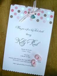 design homemade baby shower invitations