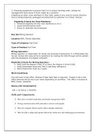 Crew Member Job Description Resume Cashier Job Description What Is The Walmart Cashier Job