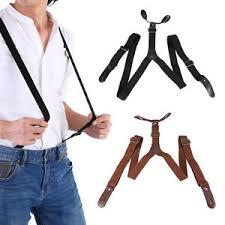 men s men s elastic adjustable suspenders 6 clips on y shape brace