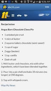 angus barn chocolate chess pie desserts chocolate