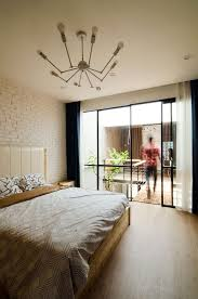 bedroom small home maximizes space and ventilation using a cool