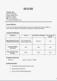 cv samples for freshers bca