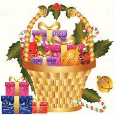 Christmas Gift Basket Christmas Gift Basket Stock Vector Art 165680665 Istock