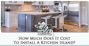 how much does it cost to install a flat pack kitchen kitchen island cost 2020 average pricing custom mk