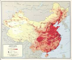 A Map Of China large scale detailed population map of china u2013 1967 vidiani com