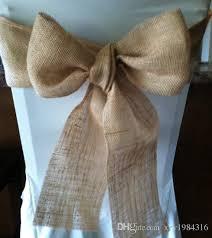 sale vintage style burlap roll wedding decorations chair sash