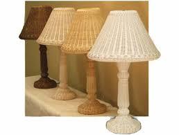 Rattan Table Lamp Candlestick Rattan Wicker Table Lamp Wicker Lamps