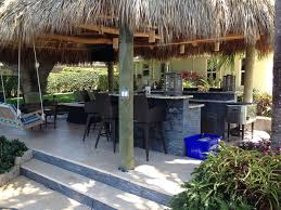 Tropical Outdoor Kitchen Designs Tiki Hut Outdoor Kitchen And Landscaping Tropical Miami By