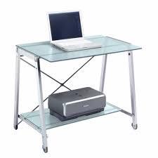 3 piece glass desk