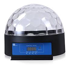 supertech led magic ball light instructions 1byone 8 6 inch crystal sound activated led stage light with dmx512