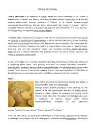 unit 1 clinical psychology