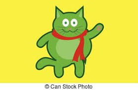 happy green color happy green child naif drawing of a kid smiling holding the