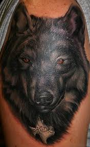 amazing wolf tattoos for shoulder