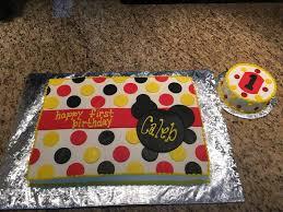 mickey mouse 1st birthday cake thecakebaker