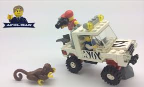 jeep safari truck lego vintage town 6672 safari off road vehicle from 1990 youtube