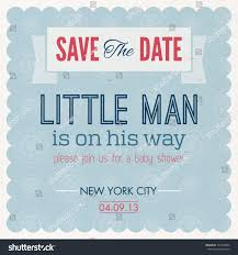 baby shower boy invitation vintage card stock vector 147409592