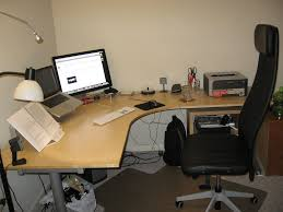 Standing Desks Ikea by Furniture Interesting Corner Ikea Galant Desk With Black Office