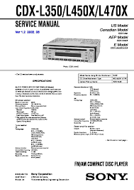sony car audio service manuals page 33
