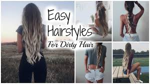 easy no heat hairstyles second day hair youtube