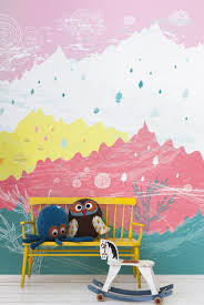 Cute Wallpapers For Kids Vinyl Wall Stickers And Mural Wallpapers For Kids Rooms Emily May
