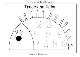 preschool number worksheets 1 10 worksheets