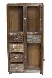 Wohnzimmerschrank Altholz Schrank Vorratsschrank Wäscheschrank Altholz Bunt Recycelt Vintage