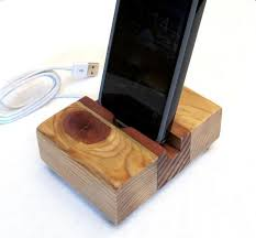 rustic wood iphone dock charging station iphone charger wood