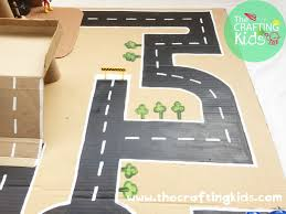 diy cardboard toys garage 2 level parking and roundabout the