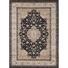 Home Depot Area Carpets Home Dynamix Bazaar Trim Black Ivory 7 Ft 10 In X 10 Ft 1 In