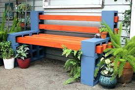 Easy Outdoor Wood Bench Plans by Build A Simple Outdoor Bench With Concrete Cinder Blocks And Wood