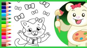 katerina kittycat u0026 daniel tiger coloring pages coloring videos