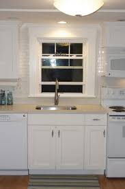 Kitchen Sink Backsplash Breathtaking White Color Subway Tile Kitchen Backsplash Featuring