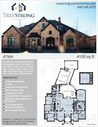 custom home floorplans floor plans trey strong custom homes