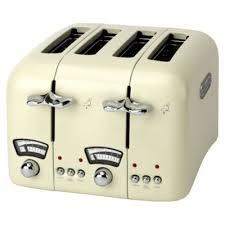 Deloghi Toaster Delonghi Argento 4 Slice Retro Toaster Cream Ct04e Around The