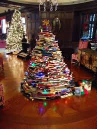 clever christmas tree trend trees made of books christmas tree