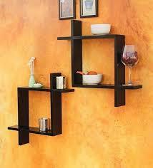 wall shelves pepperfry buy blackberry overseas set of two multi utility wall shelf online